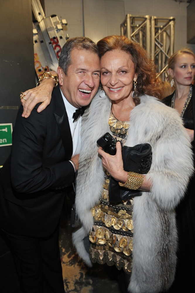 People & Events - Mario Testino and Diane von Furstenberg