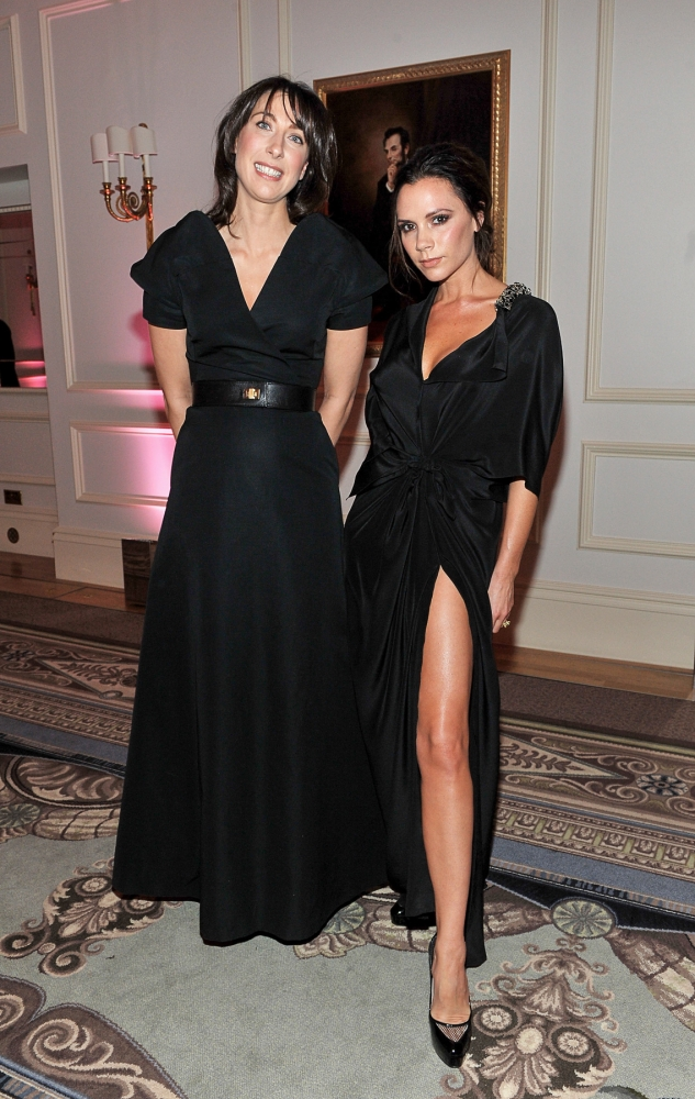 People & Events - Samantha Cameron and Victoria Beckham