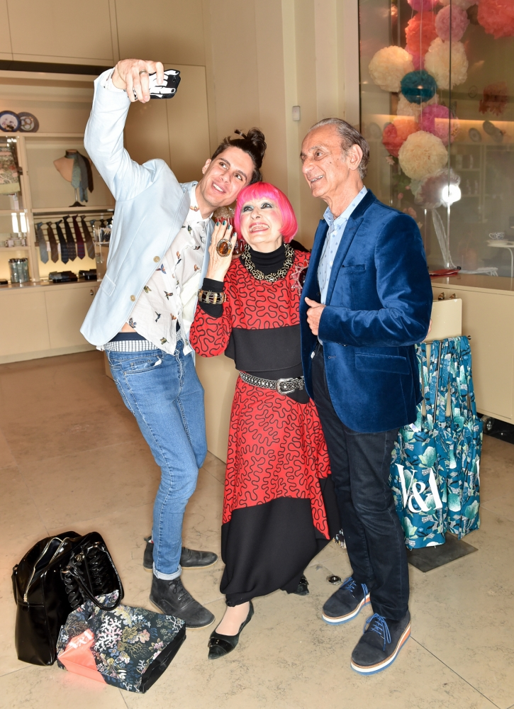 People & Events - Nabil Nayal, Zandra Rhodes and David Emanuel