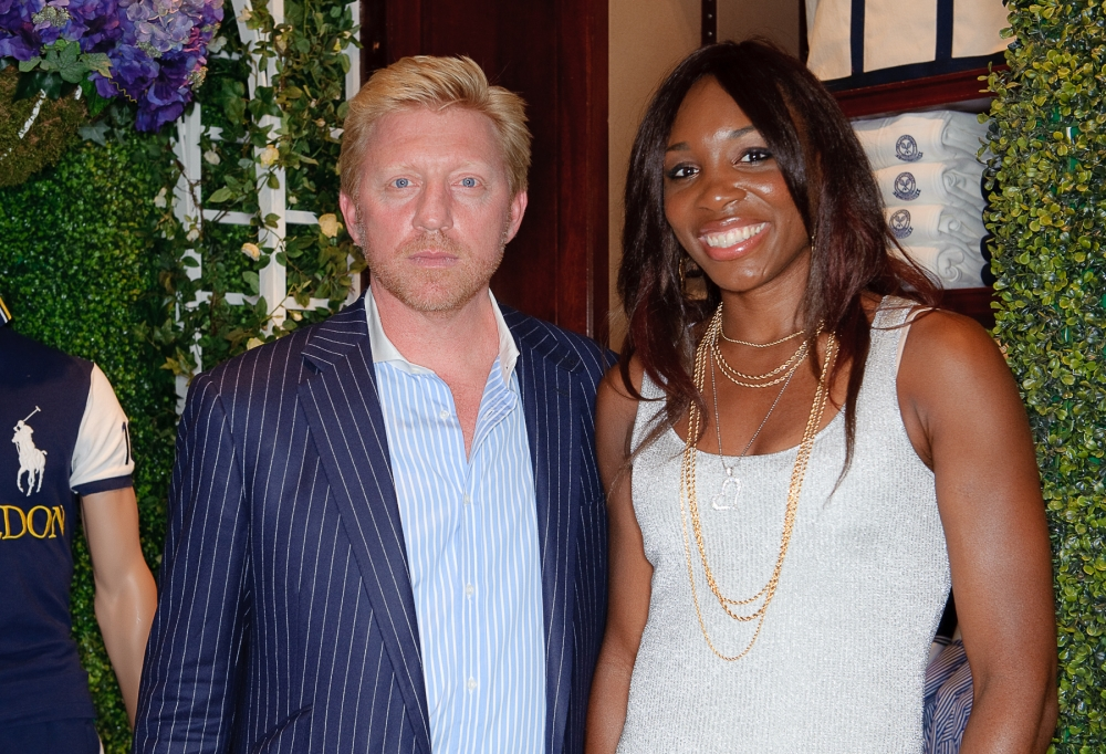 People & Events - Boris Becker and Venus Williams