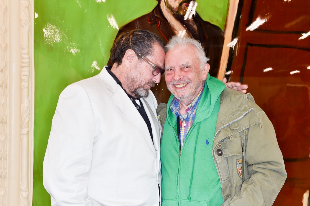 People & Events - Julian Schnabel and David Bailey